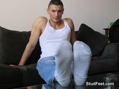 Ricardo Bares His Big Hungarian Feet